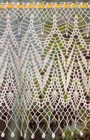 Вязание занавески крючком